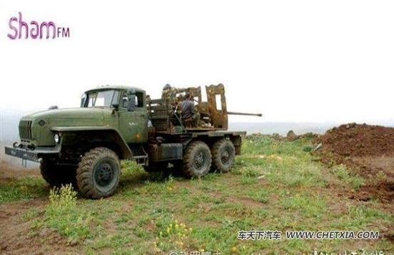 叙利亚战场拆房神器 57毫米重型卡车炮